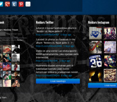 Reidars Hockey Team nettisivut